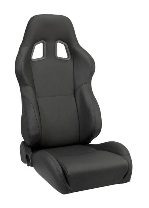 Corbeau A4 Black Leather Seats