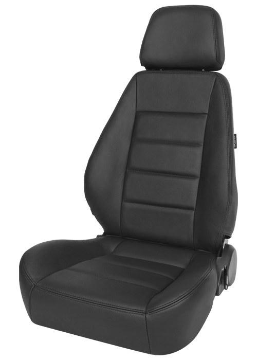 Corbeau Sport Seat Black Leather