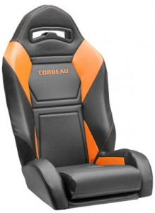 Corbeau Apex UTV Seat with Orange Accents