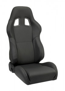 Corbeau A4 Black Leather Seats