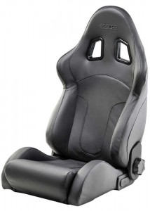 Sparco R600 Black Leather Seat